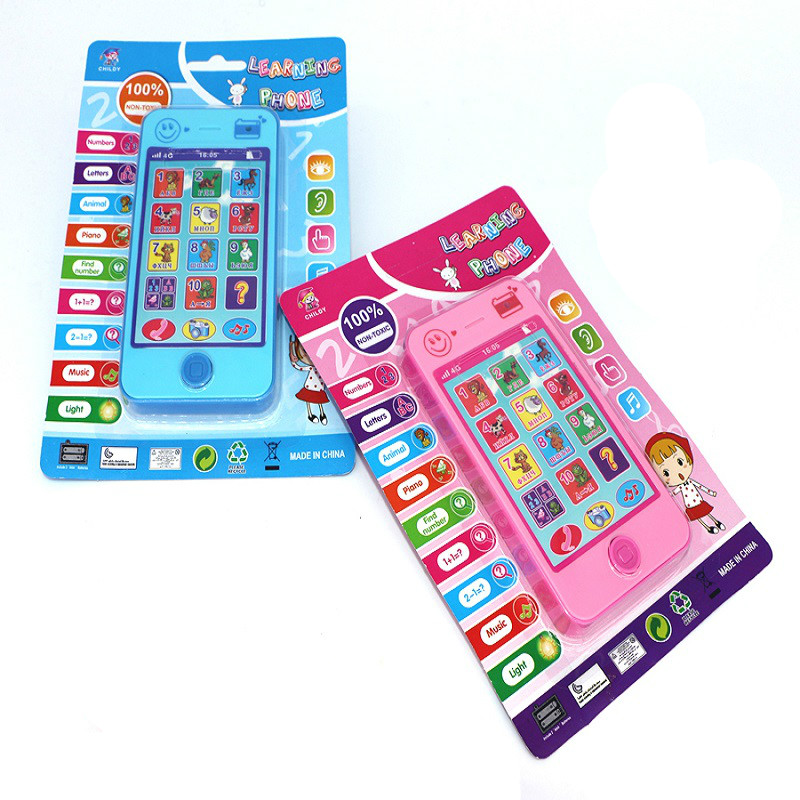 2016 New Children's Educational Simulationp Music Mobile Phone 4G The Latest Version Russian Language Baby Phone Free Shipping(China (Mainland))