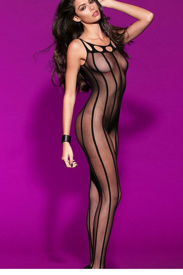 Striped Sheer Open Crotch Body Stockings LC79461Одежда и ак�е��уары<br><br><br>Aliexpress