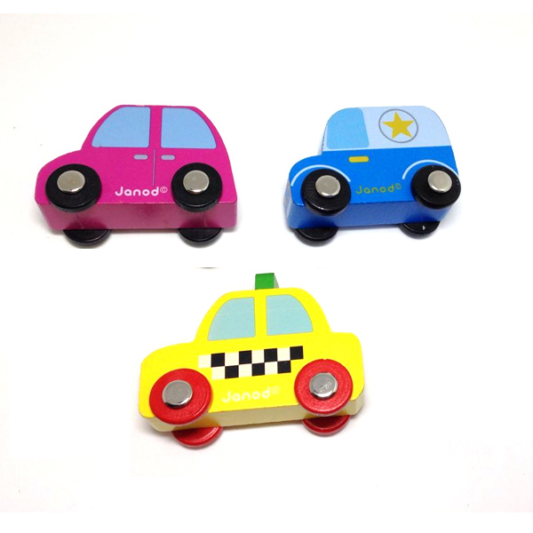 x023 New arrival hot children wooden educational toys Bus Taxi blue pink cars high quality wooden cars 3pcs/lot(China (Mainland))
