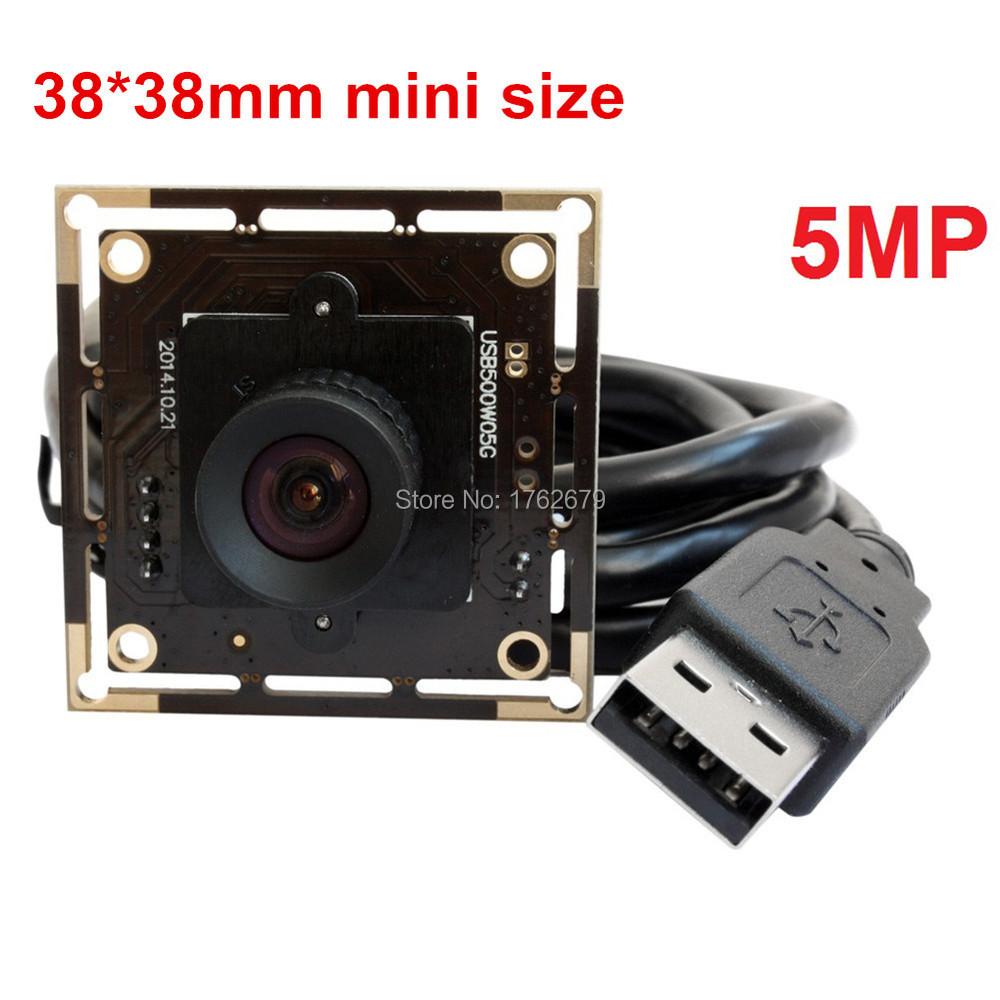 Фотография 5Megapixel 2592x1944 Mjpeg YuY2 Aptina MI5100 Color CMOS usb camera micro mini CCTV board module 100 degree no distortion lens