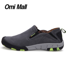 2016 Genuine Leather Hiking athletic shoes waterproof men hiking shoes anti-skid breathable slip-on men outdoor Sport shoes(China (Mainland))