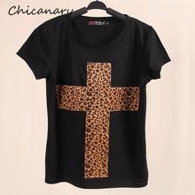 2014 New Topic 1 3D Printed Leopard Cross T Shirt Women tees women type T-shirts Short Sleeve quality Women's Printed T Shirts
