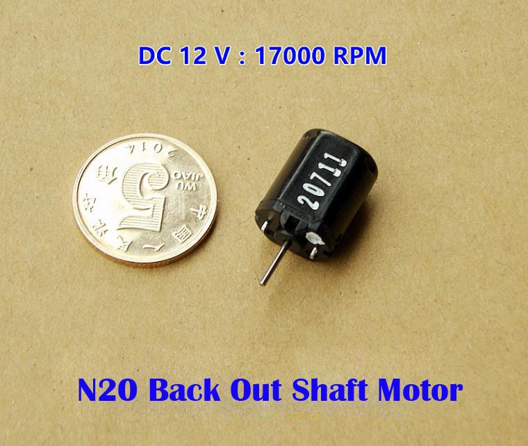 Precious Metal Brush argentiferous commutator for DC 12V N20 Micro DC Motor With reverse output shaft