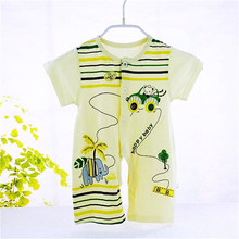 2016 New Arrival Time-limited Unisex Baby Rompers Children's Short-sleeved Summer Clothing Infant Leotard Boxer Romper B-wf035(China (Mainland))