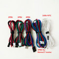 25pcs Dupont cable jumper wire 2 54 pitch wiring 2pin 3pin 4pin Nema motor cable 100k