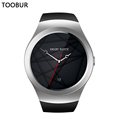 Toobur Smartwatch for Apple IOS Samsung Android Phone,Full HD IPS Touch Round Screen,Guesture Operate,Bluetooth Smart Watch