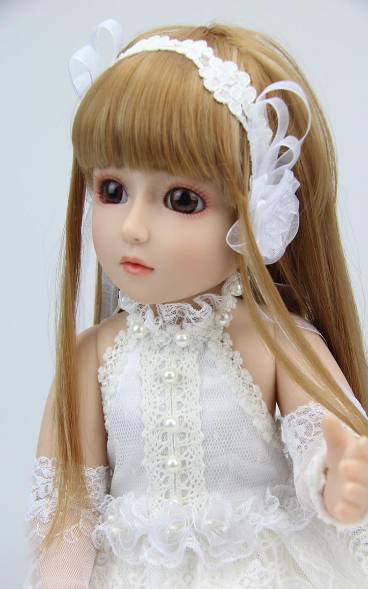 18 inchs SD/BJD Dolls Reborn Dolls Baby Reborn Dolls Babies Realistic Doll Handmade Full Vinyl for Chilldren Gift
