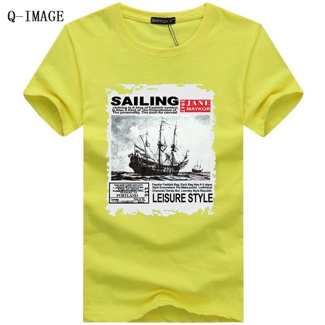 Печать мужские футболки новый 2016 с коротким рукавом о-образным вырезом чистого хлопка футболка плюс размер S-5XL