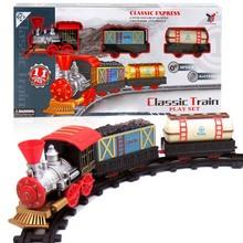Классический Железных Дорог Транспорт Поезд Игрушки Электрический Железнодорожных Поездов Модели Трек Игрушка для Детей с Розничной Коробке(China (Mainland))