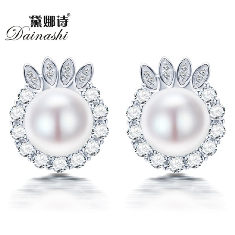 Super Deal 2016 New Cute cat stud earrings Fashion for women 100% natural freshwater pearl nice 925 sterling silver jewelry(China (Mainland))