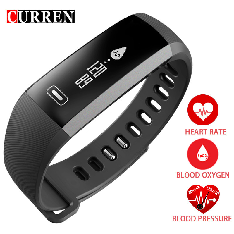 CURREN Watch Men Smart Bracelet For iOS Android Casual Sport Heart rate Monitor Bluetooth 4.0 Fitness Activity Watches For Mens(China (Mainland))