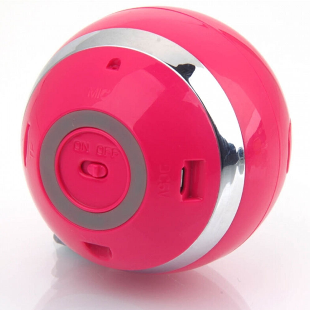 1pcs Red Portable Wireless Bluetooth Speaker 3W Stereo Audio Sound Outdoor Subwoofer Speaker For iPhone MP3 MP4 Free Ship(China (Mainland))