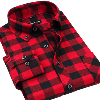 VFan Flannel Men Plaid Shirts 2014 New Autumn Luxury Slim Long Sleeve Brand Formal Business Fashion Dress Warm Shirts E1203