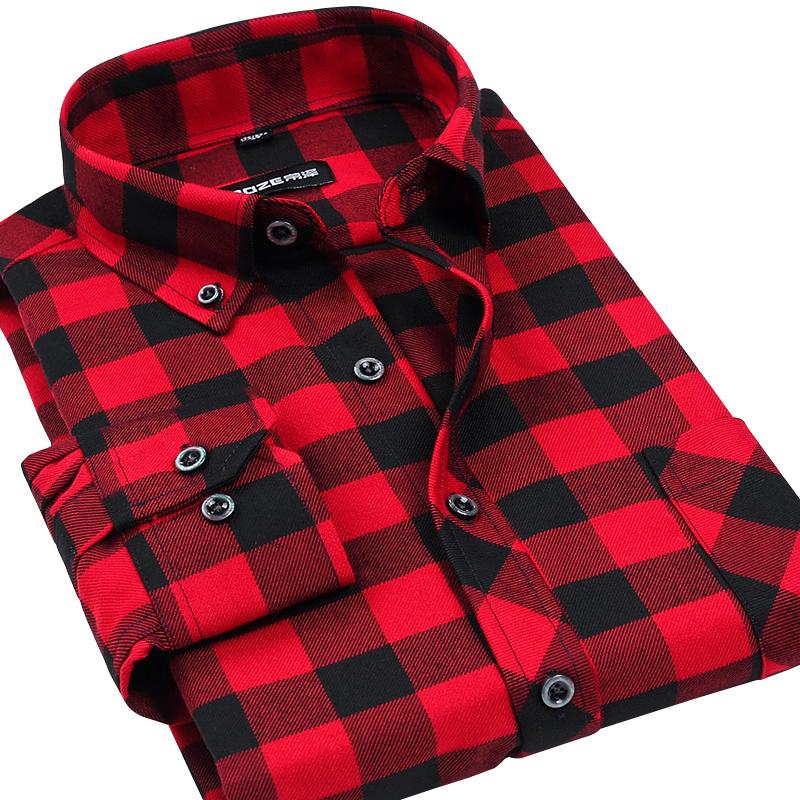 VFan Flannel Men Plaid Shirts 2016 New Autumn Luxury Slim Long Sleeve Brand Formal Business Fashion Dress Warm Shirts E1203(China (Mainland))