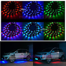 B39Free Shipping 7 Colors LED RGB Underbody Under Car Strip Flash Light Lamp With Remote Control(China (Mainland))