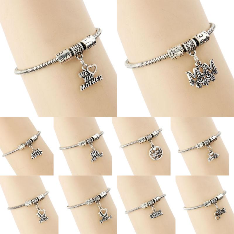 New Vintage Mom Dog Wife Husband Sister Mother Bracelet Couple Lover Bangle Bracelets Family Gift Unisex Women Men Jewelry Charm(China (Mainland))