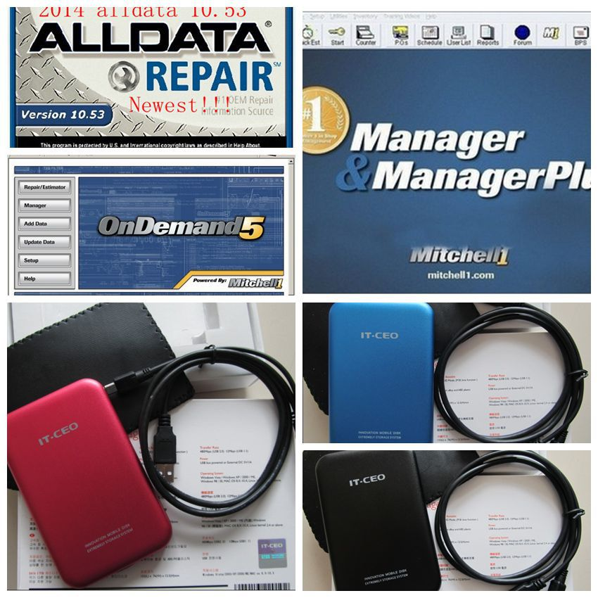 2015 Alldata 10.53 repair software+mitchell on demand auto repair software+Vivid 26in1 1000GB hdd fit for Win XP/7/8 32&64 bits(China (Mainland))