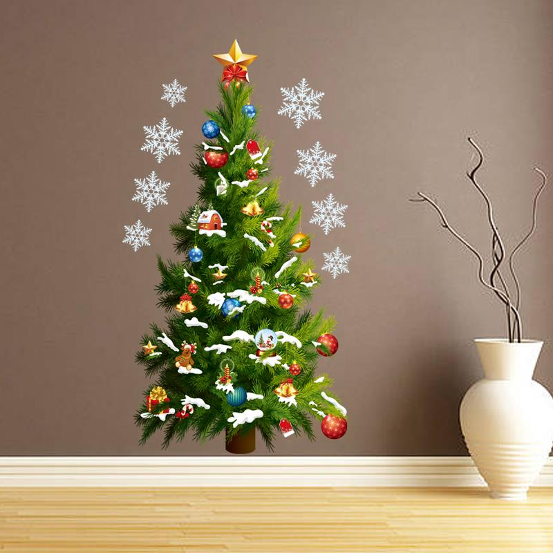 Free Shipping Christmas tree Wall Sticker decoration Home Decor Kids Wall Decals Removable Wall Stickers xmastree 01(China (Mainland))