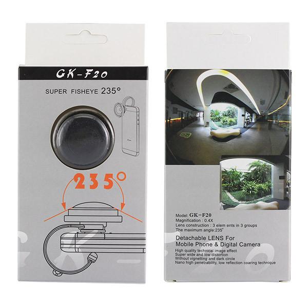 Detachable Clamp 235 Degree 0.4x Super Fisheye Lens for Smart Phone iPhone 6 ipad Samsung Galaxy S6 (1)