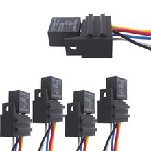 5 X Car 30A AMP 12V Relay Kit SPDT For Fan Fuel Pump Light Horn 5Pin 5 Wire(China (Mainland))