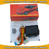 universal 4 doors universal window closer module working with car alarm and remote central lock with window up output