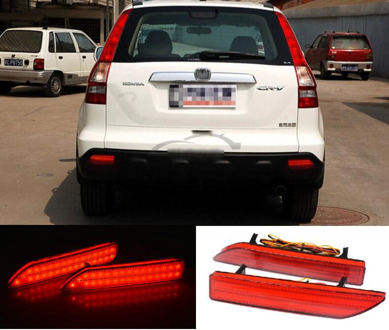 Honda CRV 2007 - LED Car Reflector Rear Bumper Light Brake Lamp Warning Lights