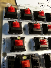 G shaft Transparent cover shaft 5pin red taxis mechanical switch keyboards(China (Mainland))
