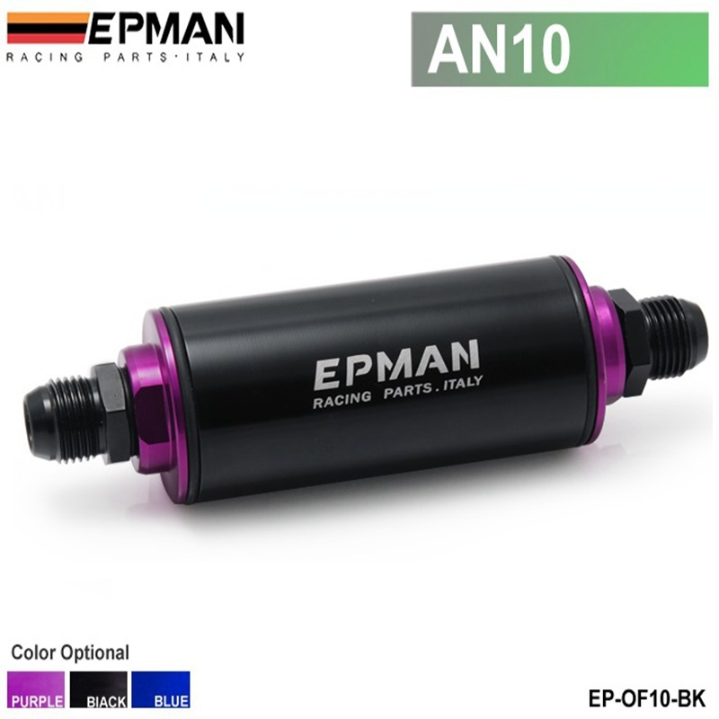 EPMAN - Car Truck Racing Ready Inline Fuel Filter AN10 with 100 Micron Element Steel SS Universal High Pressure EP-OF10-BK(China (Mainland))