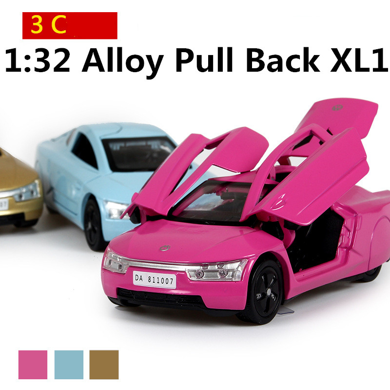 Science Fiction alloy car models 1:32 high simulation toy car, three can be opened, sound and light back to power, free shipping(China (Mainland))