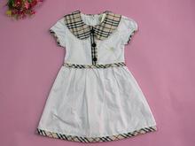 1T-5T Baby Gilrs Plaid Dress 2015 High Quality Fashion Bur UK Princess Dresses Children Girls Casual Dress Multiple Colors(China (Mainland))