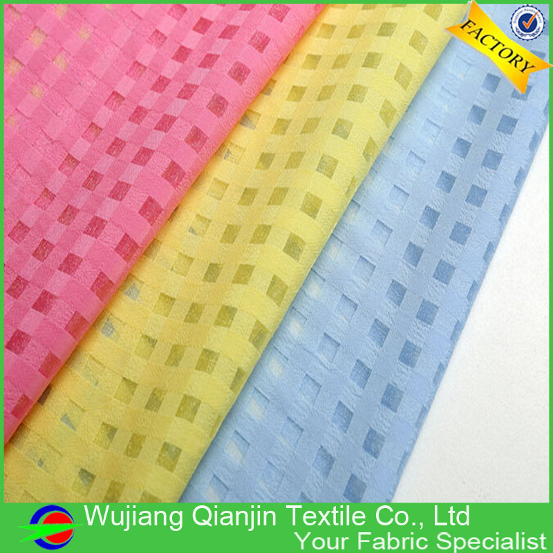 New arrival 17 colors fashionable polyester silk organza fabric(China (Mainland))