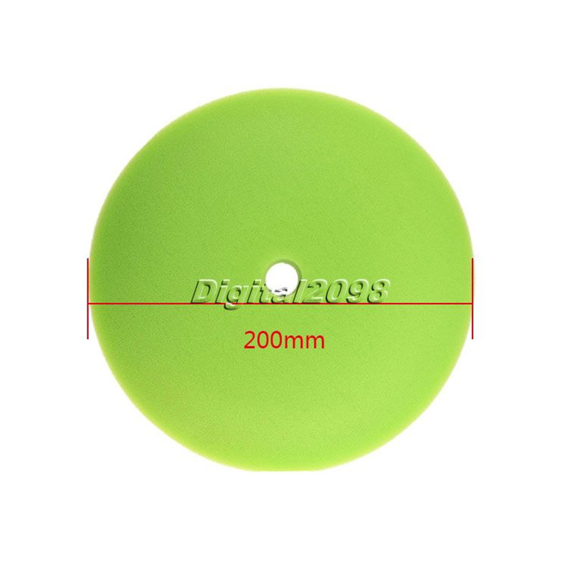 "1Pc Green 200mm 6"" Concave car Buffing Pad & finishing Pad foam Car Polish pad Scratch Swirl Removal Cleaning Tool Car Polisher(China (Mainland))"