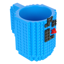 AIHOME 1Pcs DIY Building Blocks Mug Creative Block Puzzle Cup 12oz Build-On Brick Drinkware Mugs Lego Type Coffee Cup(China (Mainland))