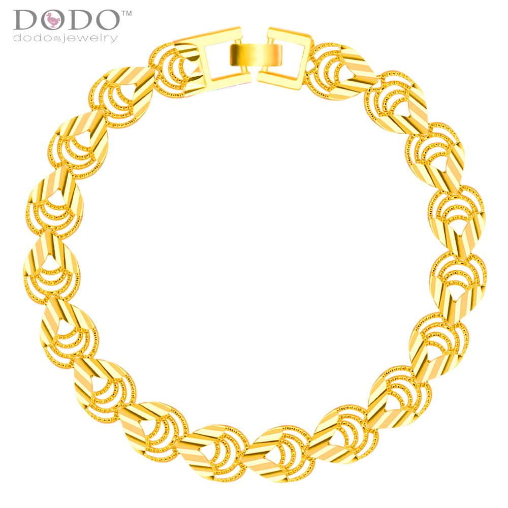 Stamp 18K Gold Plated Chain Bracelet Jewelry Wholesale Trendy 18.5CM 8 MM Wide Chain & Link Bracelet Men Jewelry B40206(China (Mainland))