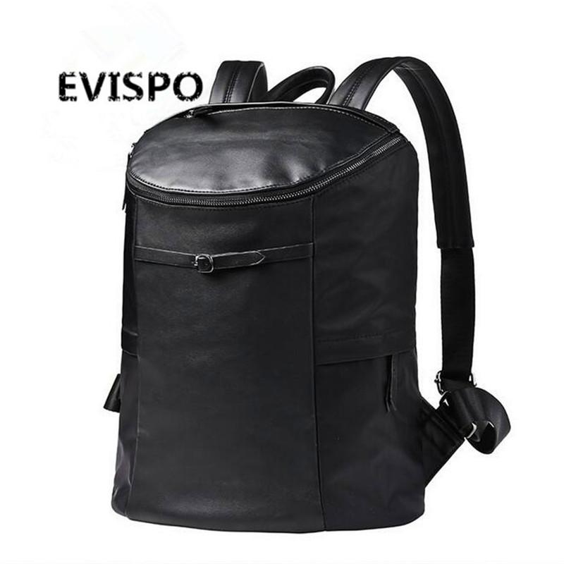 2016 Famous Designer Men Stylish Backpacks PU Leather School Bags For Teenagers Large Capacity Vintage Travel Bags Bolsa Mochila(China (Mainland))