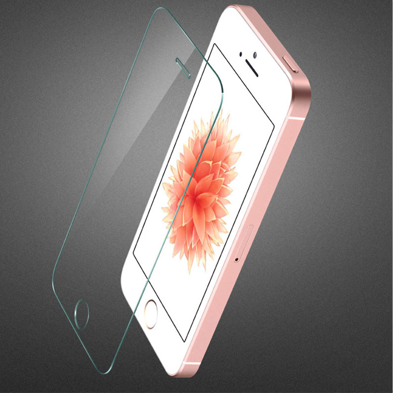 Premium 0.3mm 9H 5 5S SE Tempered Glass Luxury Explosion Proof Film Screen Protector Toughened Membrane for iphone 5 5s(China (Mainland))