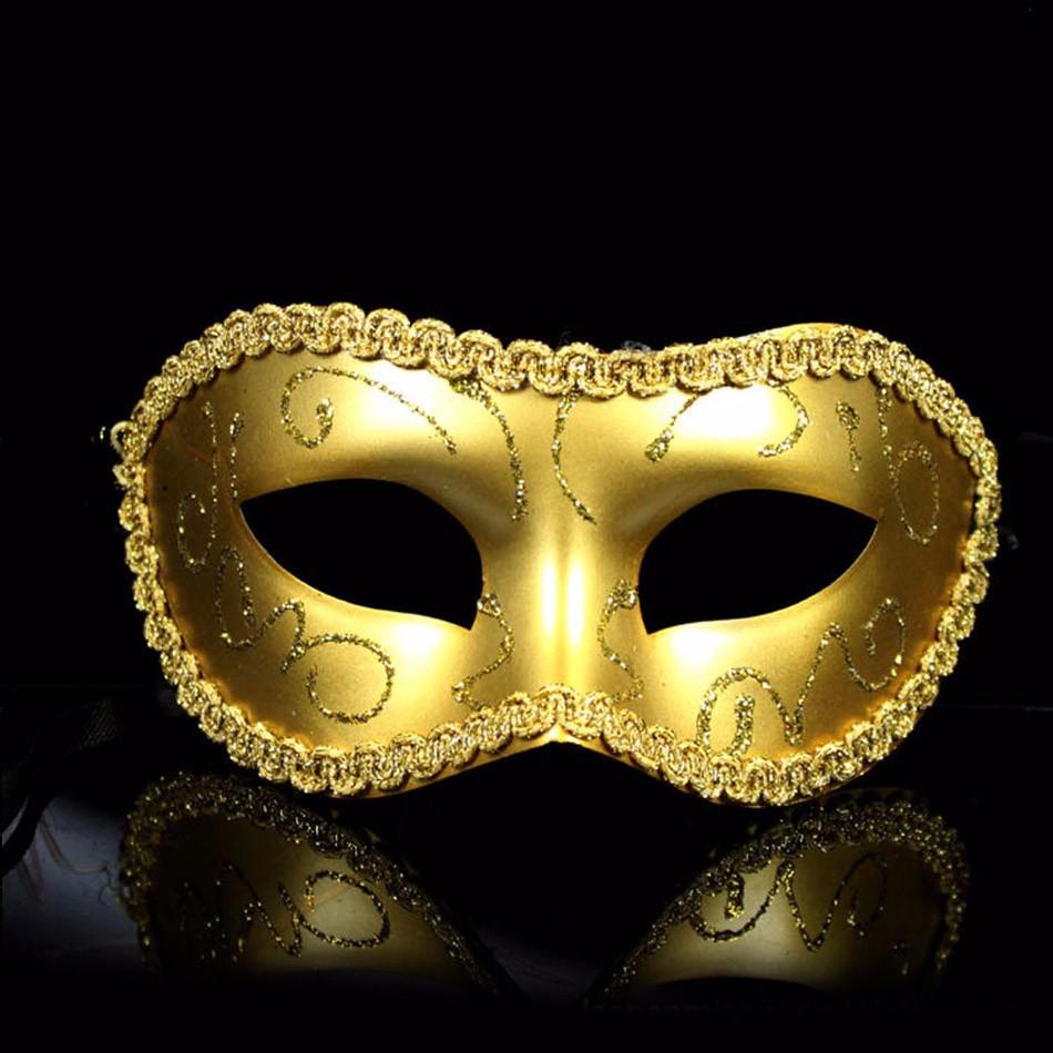 Men/Women Costume Prom Mask Venetian Mardi Gras Party Dance Masquerade Ball Halloween Mask Fancy Dress Costume(China (Mainland))
