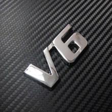 Car Chrome Badge Emblem Side Sticker Metal V6 Highlander - CPCDECALS store