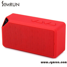 Symrun 2015 Mini Multicolor X3 Bluetooth Speaker Portable Tf Usb Fm With Mic Handfree bluetooth speaker radio fm