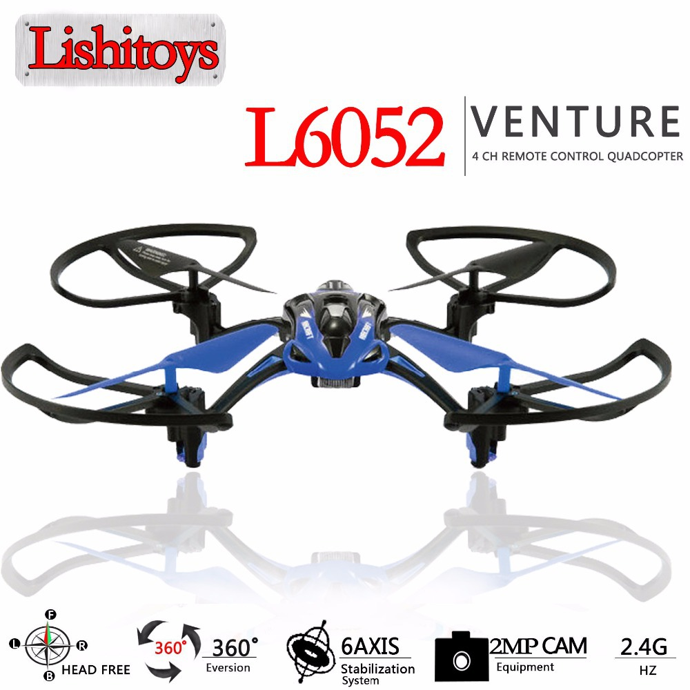 Newest toy L6052 rc plane quadcopter 2.4G 4ch 6-Axis RC helicopter drone with 2 MP camera hd can add wifi FPV 3 colors available(China (Mainland))