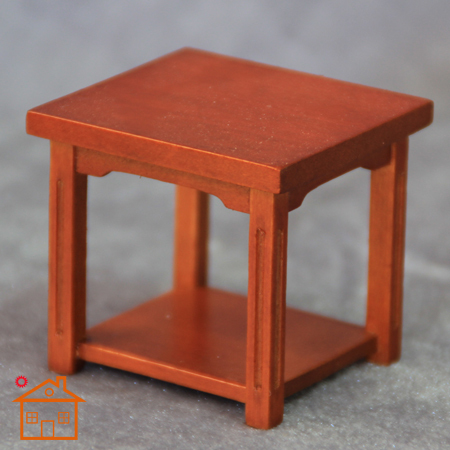 Doll House Mini Table Handmade Wood Furniture Accessories Coffee Table
