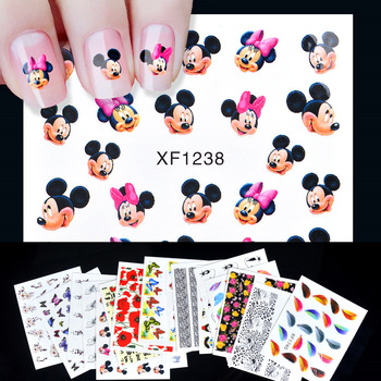 16 Designs Nail Sticker Leopard Cat Flowers etc Patterns Decals Water Transfer Image Tattoos Nail Art Decorations Sticker Set