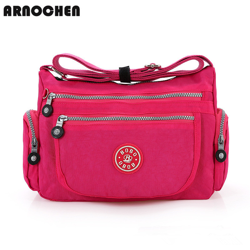 Practical Washed Cloth Women Messenger Bags 8 Color Waterproof Nylon Bag For Girls School Bags Women's Shoulder Bag WYQ010(China (Mainland))