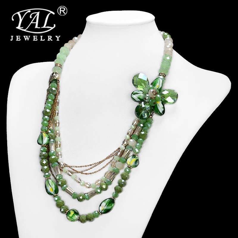 D82    Necklace China charming Bib collar Necklace jewelry New Fashion exquisite Flower Ribbon Gem Petals items Wholesale Collar