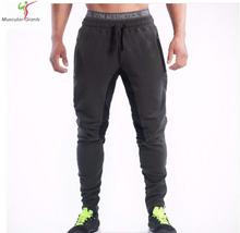 2015 New Men Pants SportsRunning Sweatpants SoccerPrinting Casual Trouser Jogger Bodybuilding Fitness Sweat Pants(China (Mainland))