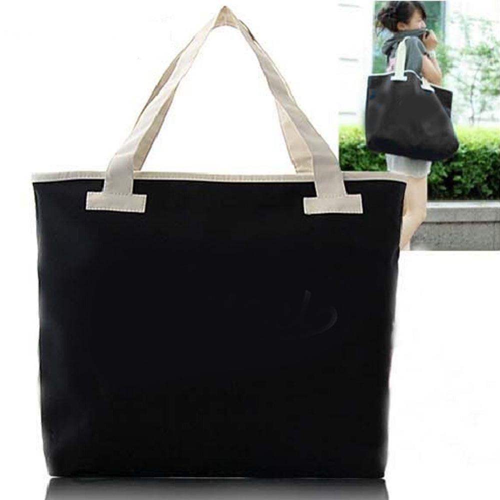 Fashion Simple Pure Women Men Canvas Shoulder Handbag Outdoor Shoulder Bag Large Capacity Shoulder Tote Bags<br><br>Aliexpress