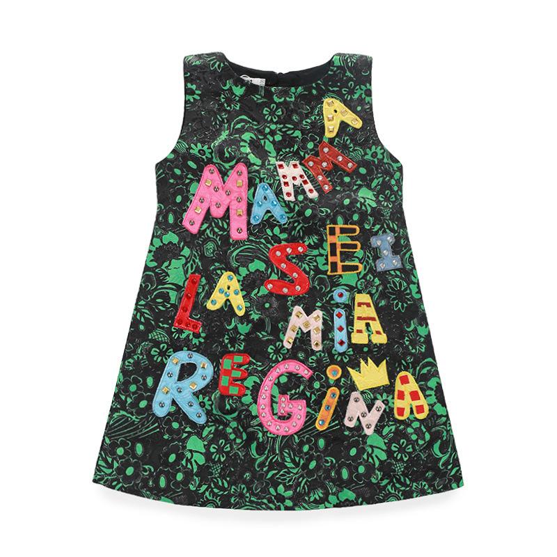 Dresses letter girls dress children costumesfor girls christmas dress