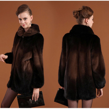 2016 Warm winter mink fur coat coats turn-down collar Shiny diamond buttons woman coat  jacket faux fur Factory outlets(China (Mainland))