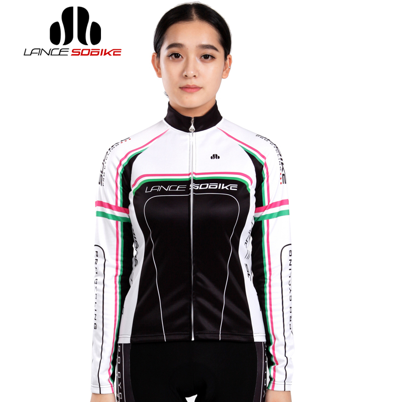Hot! SOBIKE Women's Outdoor Sportswear Bicycle Raing Fleece Thermal Long Sleeve Jersey Jacket -Britney (3 Color)(China (Mainland))
