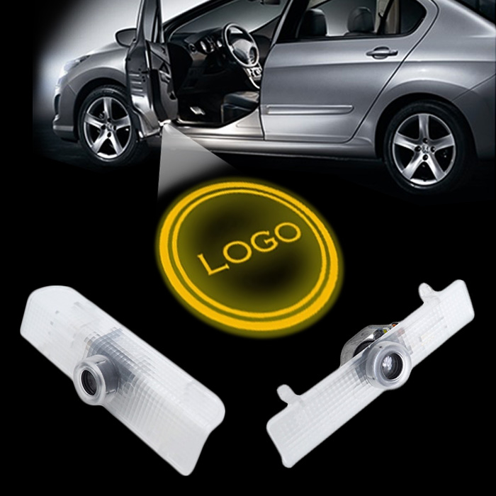 2x LED Car door courtesy laser projector Logo Ghost Shadow Light Armada Maxima Quest Titan Teana(China (Mainland))